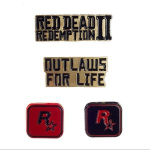 Rockstar Other - 🌟NWT Bundle Red Dead Redemption II Pin Set(6Total